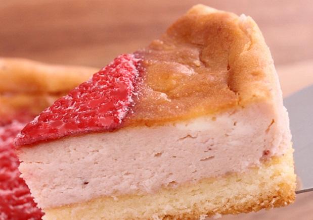 可愛いハートの「レアチーズケーキ」