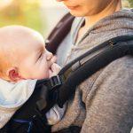1ヶ月健診は抱っこ紐でGO!エルゴアダプトで新生児も快適バス移動!